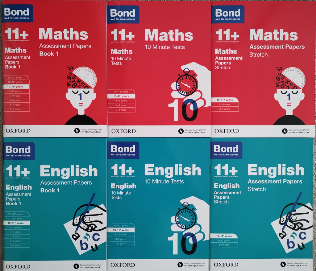 Bond 11+ English & Maths Assessment Papers, Ages 10-11 Years - Children Store Co.