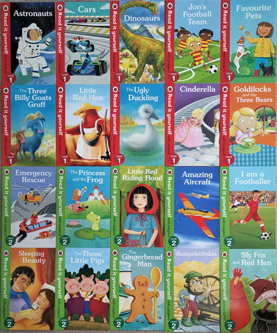 Ladybird Read it yourself (Level 1 & 2) 30 books collection Brand New!!!! - Children Store Co.