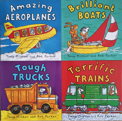 Kid's Amazing Machines Collection 4 Books Set Brand NEW!!! - Children Store Co.