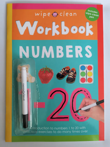 Wipe clean Numbers workbook New!!!! - Children Store Co.