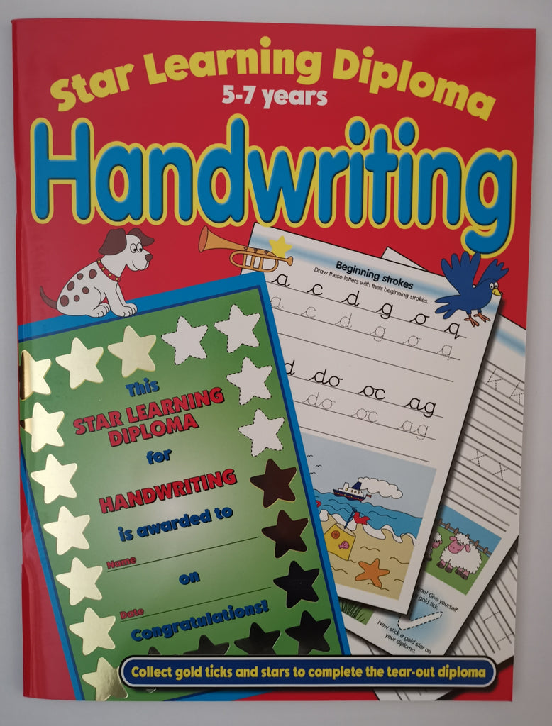 Star Learning Diploma Handwriting Practice Ages 5-7 KS1 - Children Store Co.