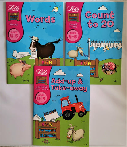 Letts Maths and English ages 4-5 (3 books set) NEW!!!! - Children Store Co.