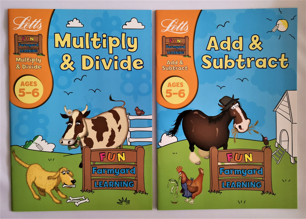 Letts  Maths workbook ages 5-6 ( Set of 2 workbooks) New!!! - Children Store Co.