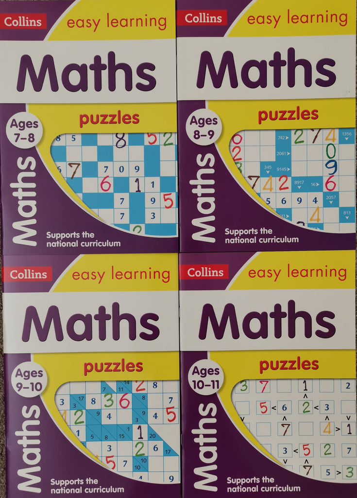 Collins Maths Puzzles (4 books pack) Ages 7-11 KS2 - Children Store Co.