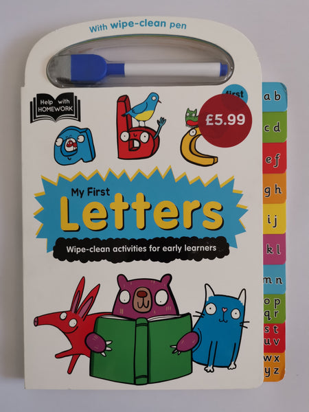 Kids Letters Wipe clean book NEW!!! Hardback - Children Store Co.