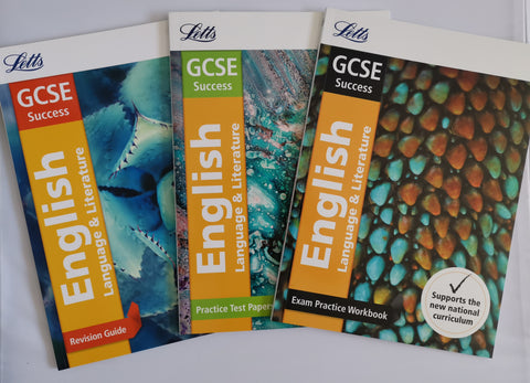 Letts GCSE Success English Workbooks (Set of 3 books) New!!!! - Children Store Co.