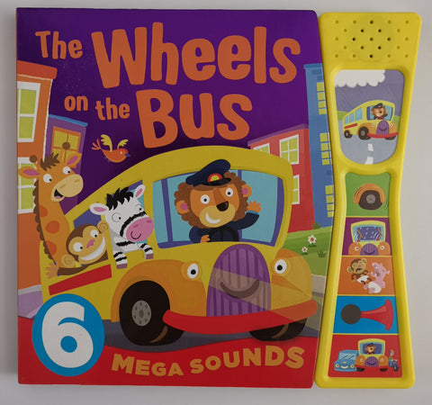 The Wheel on the bus Mega Sounds 6 button Hardback - Children Store Co.