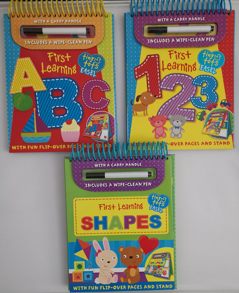 PreSchool Kids/Children First Learning Tiny Tots (3 Wipe clean Easel books) Pack Ages 2+ - Children Store Co.