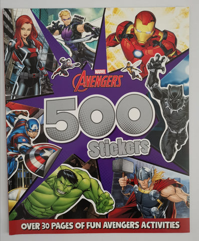 boy / kids Marvel Avengers 500 Stickers paperback - Children Store Co.