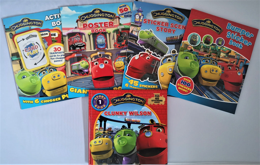 CHUGGINTON Activity books & story book Collection (5 books set) New!!! - Children Store Co.