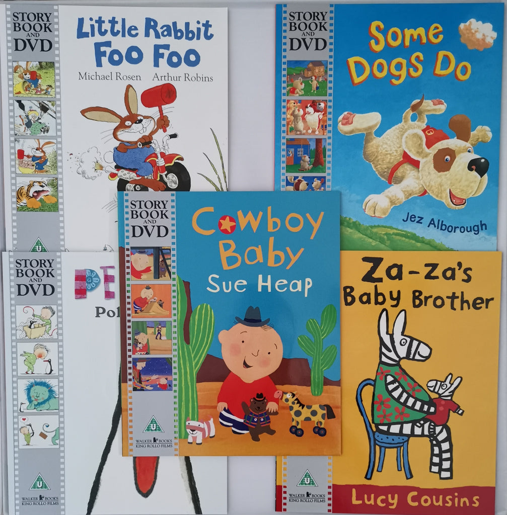 Kids/Children Story book & DVD 5 Books Set Collection Paperback Ages 2+by Lucy Cousins/Sue Heap/Michael Rosen