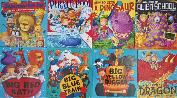 Kids/Children Alien, Dinosaur's & other animals 8 books  Collection Paperback by Caryl Hart & Ed Eaves - Children Store Co.