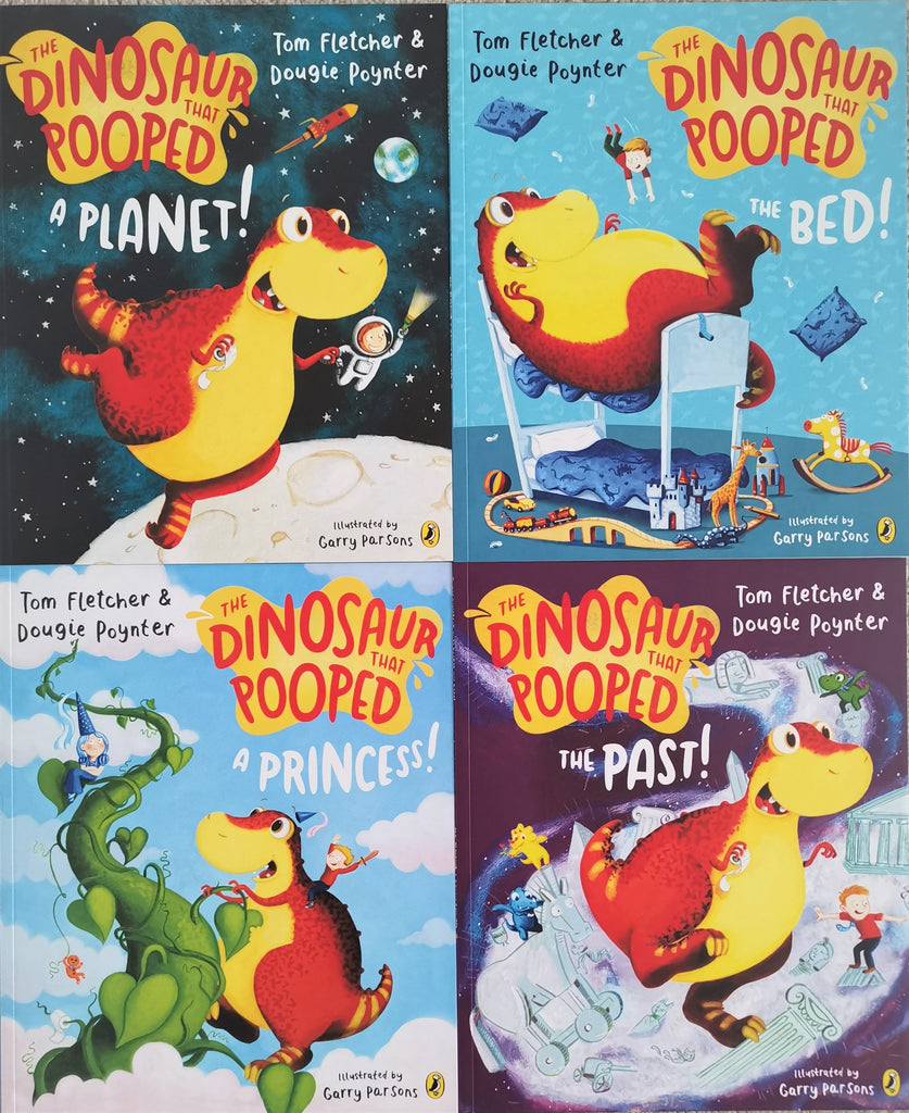 The Dinosaur that Pooped 4 Books Collection - Ages 2+ - Paperback - Tom Fletcher and Dougie Poynter - Children Store Co.