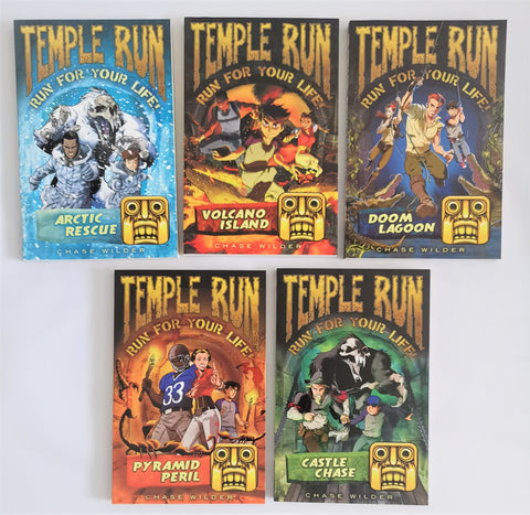 Temple Run 5 books set Collection Ages 7+ Paperback Brand New!!! - Children Store Co.