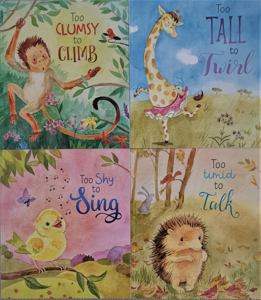 Too Shy to Sing (4 books collection) Paperback Set Ages 2+ Picture Flats New - Children Store Co.