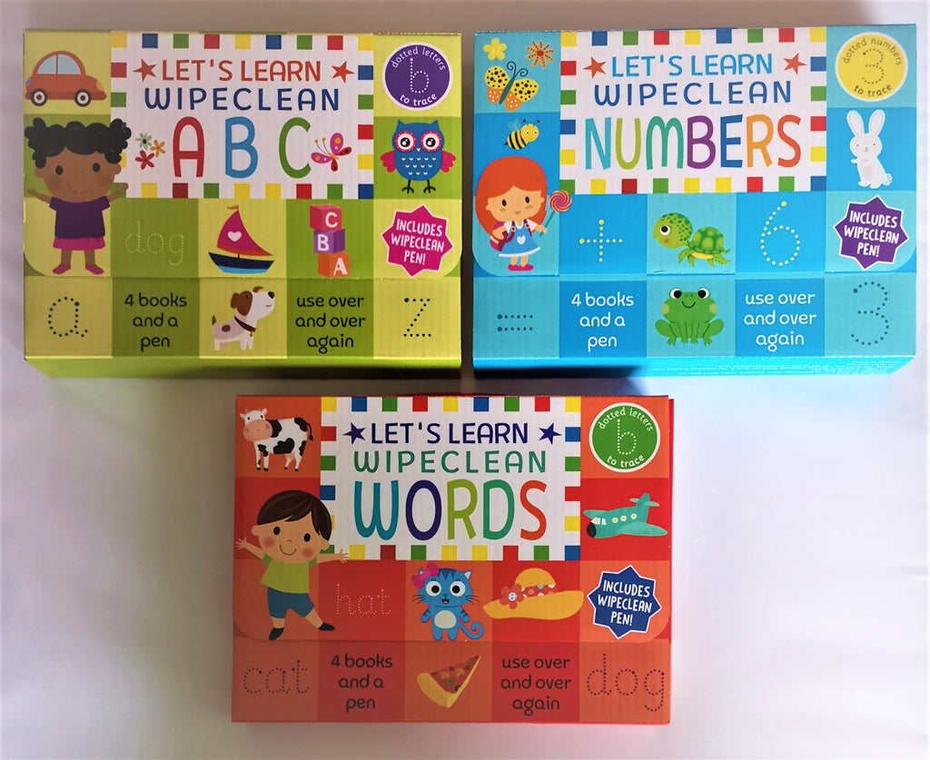 Pre School Wipe Clean Learning Packs ABC'S, Numbers & Words (set of 3) Packs NEW - Children Store Co.