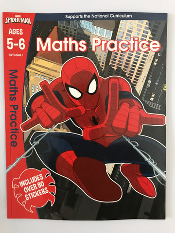 Marvel Spider Man Maths Workbook KS1 Ages 5-6 - Children Store Co.
