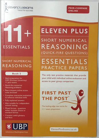 11+ Essentials Short Numerical Reasoning: Quick-Fire Questions Book 2 - Children Store Co.