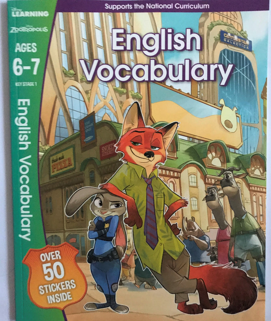 Disney Learning Zootropolis English Vocabulary Workbook KS1 Ages 6-7 - Children Store Co.
