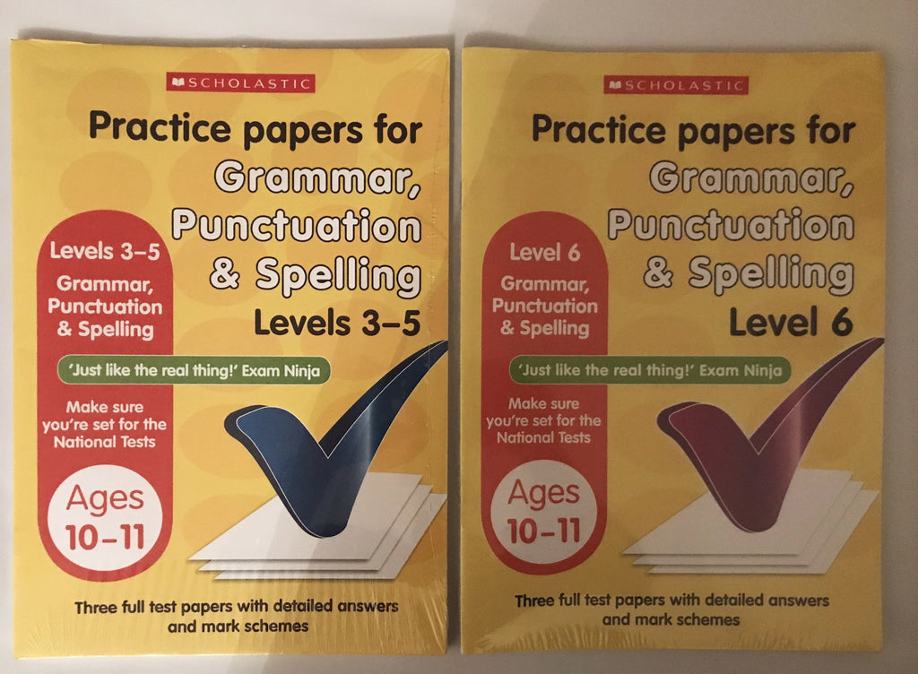 Scholastics Practice papers for Grammar, punctuation & spelling Level 3-6 Ages 10-11 - Children Store Co.