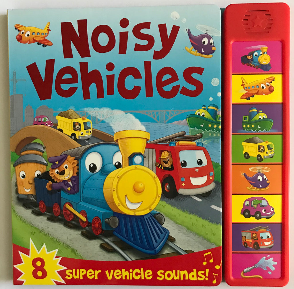 Mega Sounds Noisy Vehicles 8 Button Sound book HARDBACK Like New!!! - Children Store Co.