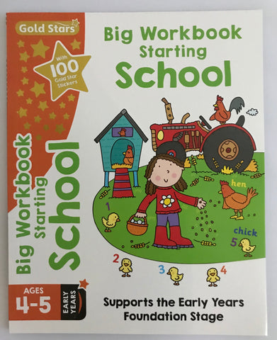 Goldstars Pre-school Big workbook Starting School Ages 4-5 NEW!!!! - Children Store Co.