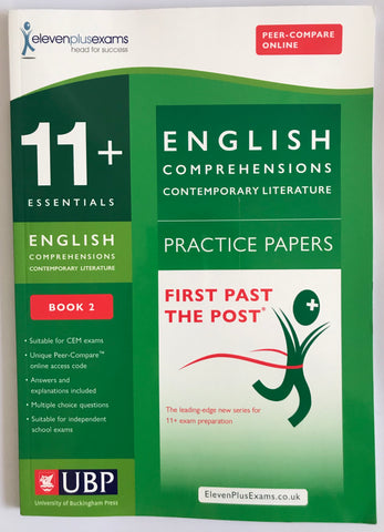 11+ Essentials English Comprehensions (Contemporary LITERATURE) Practice Papers
