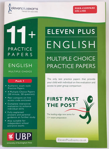11+ English Multiple Choice Practice Papers Pack 1