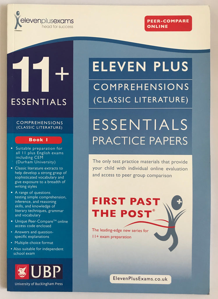 11+ Essentials Comprehensions (Classic Literature) Practice Papers Book 1 - Children Store Co.