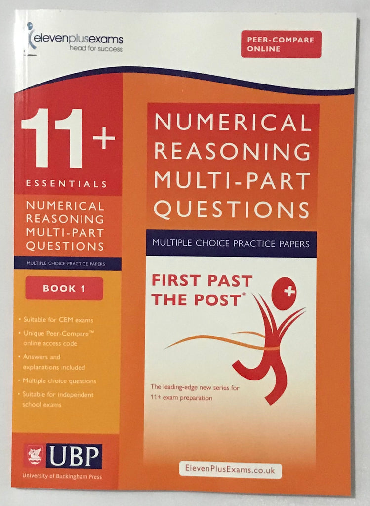 11+ Numerical Reasoning: Multi-part Questions Multiple Choice practice papers BOOK 1 - Children Store Co.