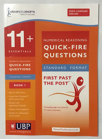 11+Numerical Reasoning Quick-Fire Questions Book 1