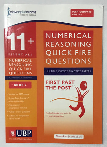 11+ Numerical Reasoning Quick Fire Questions (Multiple Choice) Book 2