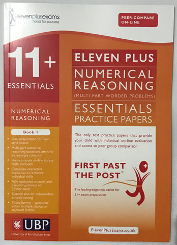 11+ Essentials Numerical Reasoning Multi part Worded Problems Book 1