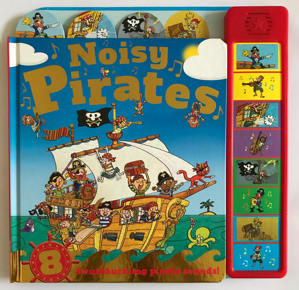 Baby / Kids Noisy Pirates 8 button sound book NEW!!!!! - Children Store Co.