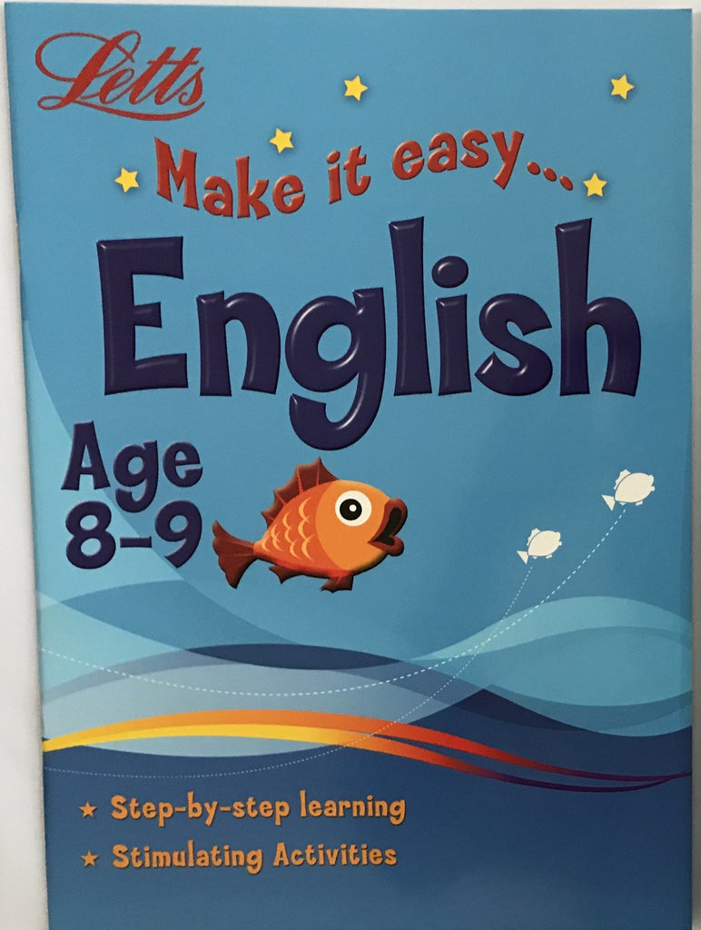 Letts Make it Easy English Ages 8-9 yrs workbook NEW!!!! - Children Store Co.