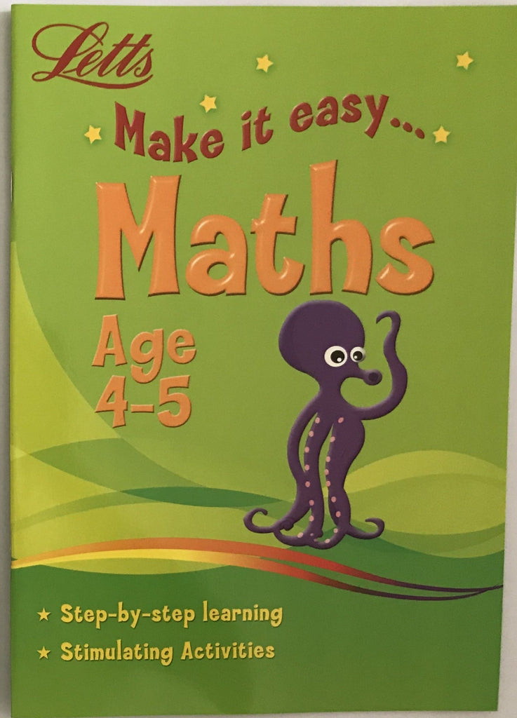 Letts Make it Easy Maths Ages 4-5 yrs NEW!!!! - Children Store Co.