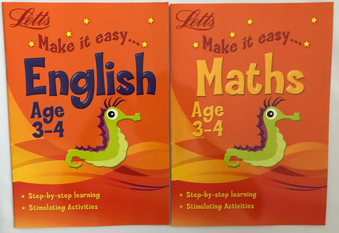 Letts Make it Easy English & Maths Ages 3-4 yrs (set of 2 workbooks)