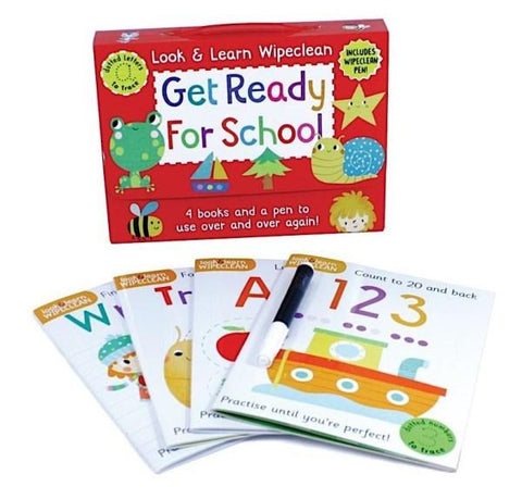 Pre School / Nursery Get Ready for School Wipe & Clean Learning Pack Ages 3+ - Children Store Co.