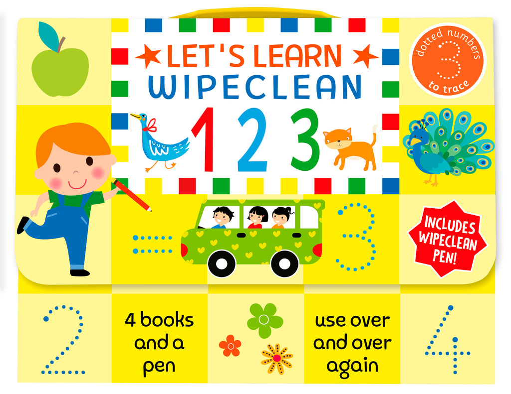 Pre-School / Reception Kids Lets Learn wipe clean 123 Learning Pack Ages 3+