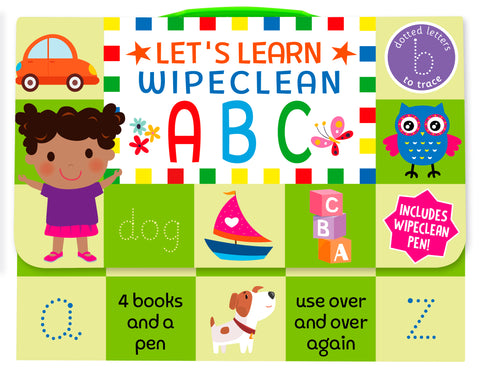 Nursery / Reception Kids Lets Learn ABC Wipe clean Learning Pack Ages 3+ - Children Store Co.