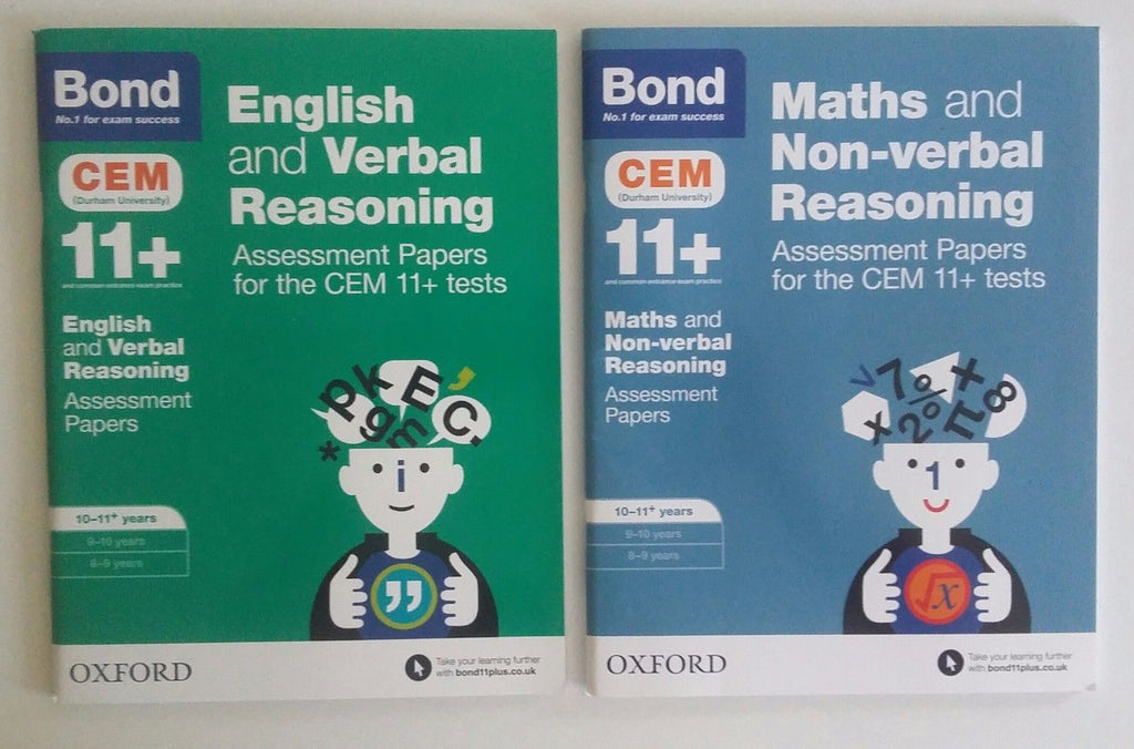 Bond 11+ English & verbal reasoning and Maths & non- verbal reasoning 10-11+