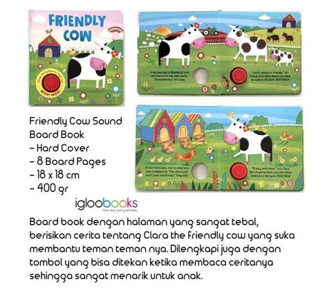 Baby/kids Friendly Cow Sound book NEW!!!! - Children Store Co.