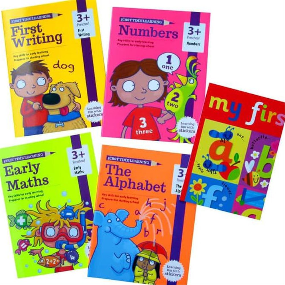First Time Learning 4 books set Ages 3+ Brand New!!!! - Children Store Co.