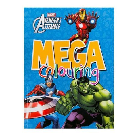 Boy / kids Marvel Avengers Mega coloring book paperback - Children Store Co.