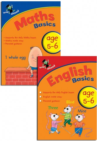 Leap ahead English & Maths Basics workbook ages 5-6 New!!! - Children Store Co.