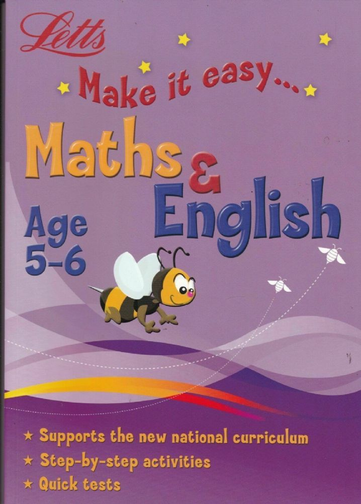 Letts Make it Easy English & Maths Ages 5-6 yrs  workbook NEW!!!! - Children Store Co.