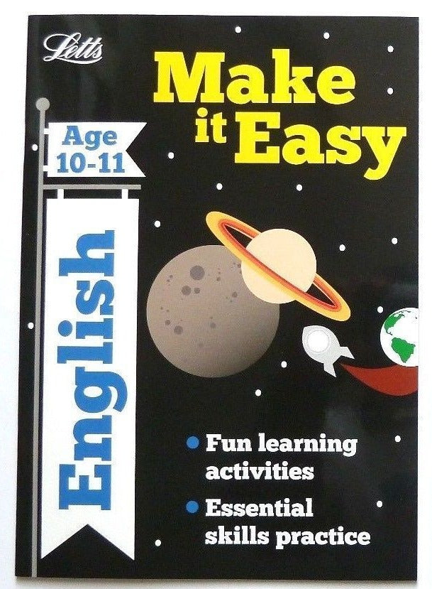 Letts Make it Easy English Ages 10-11 yrs workbook NEW!!!! - Children Store Co.