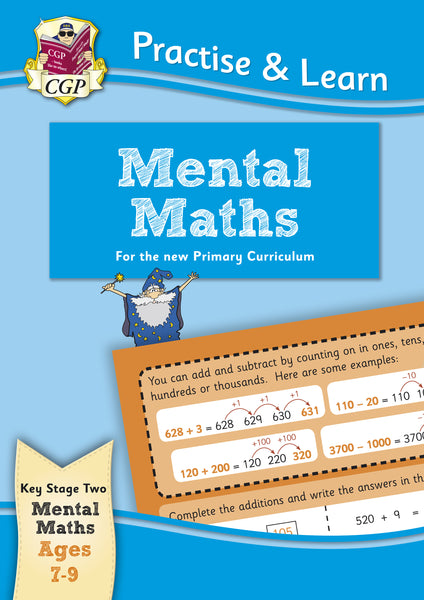 CGP Practise & Learn Mental Maths KS2 Ages 7-9 New!!!! - Children Store Co.