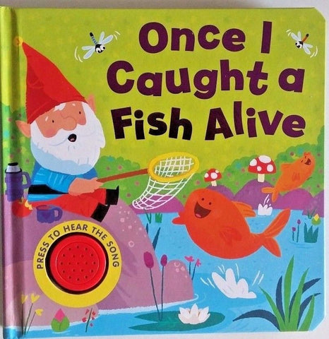 baby/Kids Sound book Once I Caught a fish alive hardback NEW!!! - Children Store Co.