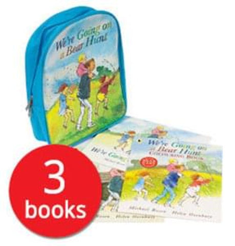 We're Going on a Bear Hunt: Backpack and 3 Book Collection NEW!!!